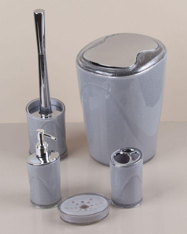 Akrilik Gümüş Banyo Seti