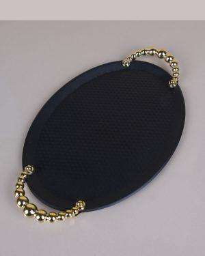 Oval Siyah Tepsi