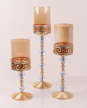 Versace Mont. Üçlü Set Şamdan Sarı