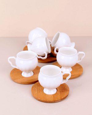 Altılı Bambu Kahve Fincanı