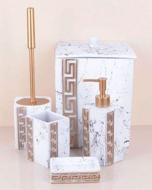 Versace Banyo Seti Beyaz Kare