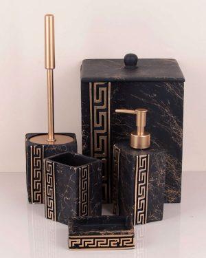 Versace Banyo Seti Siyah Kare