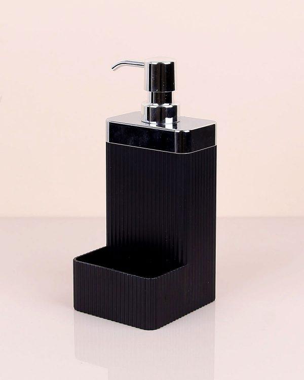 Lisbone Black Silver Sıvı Sabunluk