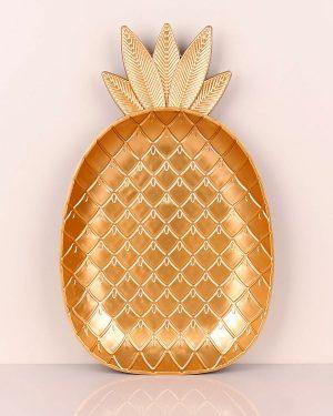 Ananas Model Sarı Plastik Tepsi