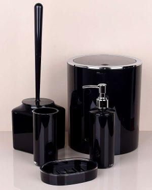Siyah Beş Parça Banyo Seti